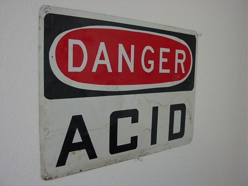 how to tell what is an acid