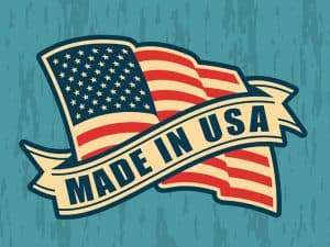 Made in USA (United States of America). Composition with America