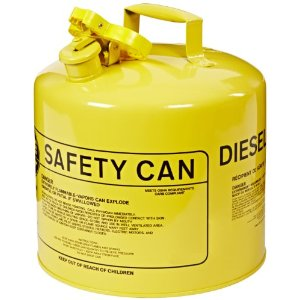 5 Gallon - Diesel Fuel Containers - NO Funnel - Outside 12-1/2  Wide x 13-1/2  High - Capacity 5 gallons - Color Yellow - Material Galvanized - Weight 7 lbs ...  sc 1 st  AbsorbentsOnline : diesel storage containers  - Aquiesqueretaro.Com