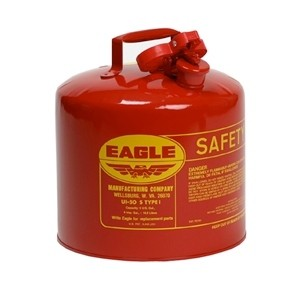 AUI-50SE Eagle Metal Gas Can (Eagle 5 gallon gas safety can red)