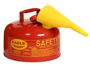 AUI-20FSE Gasoline Containers (2 gallon gas can with funnel)