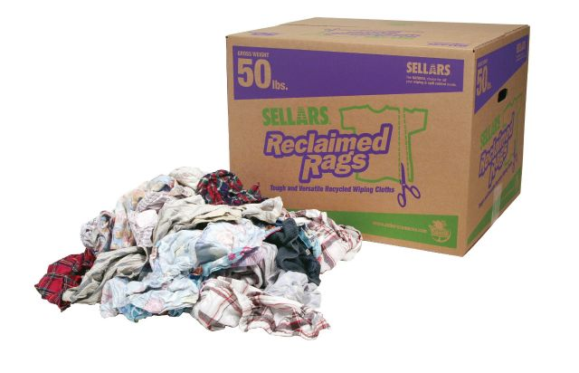 A99208T Flannel Rags 50lb Box (recycled flannel rags)