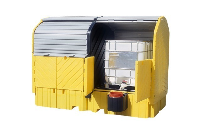 A1148U Twin Tote Spill Containment (outdoor storage for two chemical totes)
