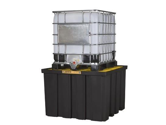 A28674J IBC Black Spill Pallet (made with 40% recycled material)