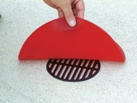 round reversible drain cover