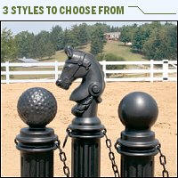 decorative bollards - decorative posts - absorbentsonline