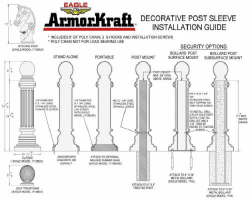 decorative posts install