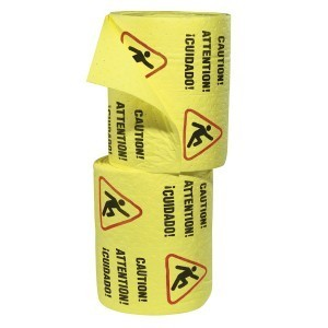 Caution Mat - Absorbent Rolls for Water – HEAVY Wt 2 rolls