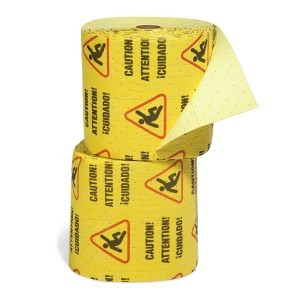 Caution Mat - Absorbent Rolls for Water – MEDIUM Wt 2 split rolls