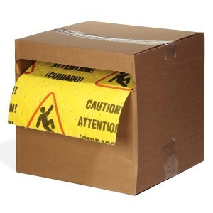 Caution Mat - Absorbent Rolls for Water – HEAVY Wt 1 roll BOXED
