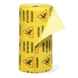 Caution Mat - Absorbent Rolls for Water – HEAVY Wt 1 roll