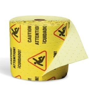 Caution Mat - Absorbent Rolls for Water – MEDIUM Wt 1 roll