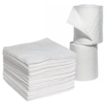 economy and performance oil absorbent pads and rolls
