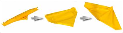A1335U - Flexible Utility Tray - unfolding