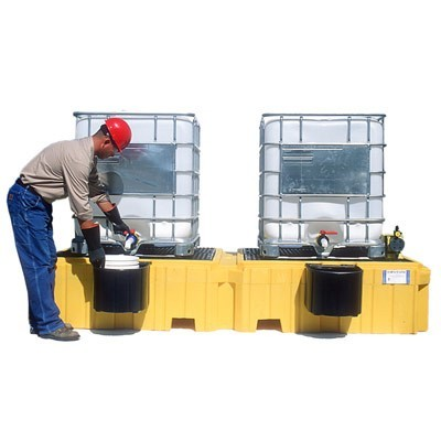A1143U & A1147U Twin Tote Containment (2 factory installed bucket shelves included)