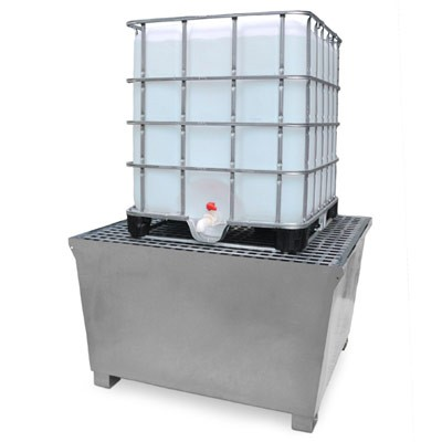A1184U Steel IBC Spill Pallet (14 gague galvanized steel)