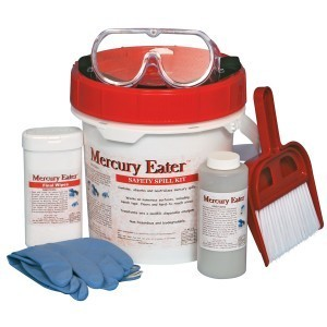 Mercury spill response equipment kit
