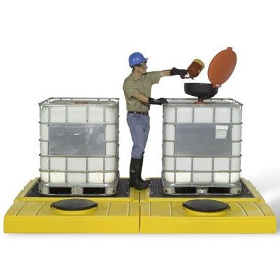 IBC Tote Containment Pallets for Indoor or Outdoor Use