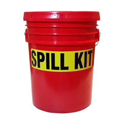red spill kit bucket