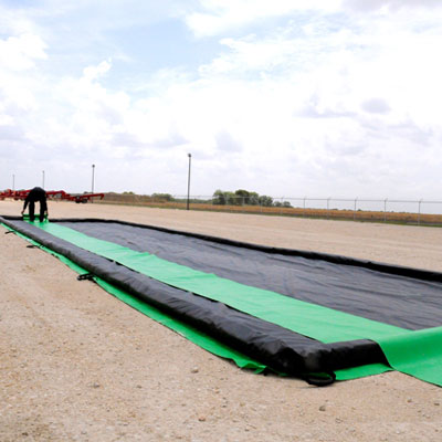 laying a berm track belt