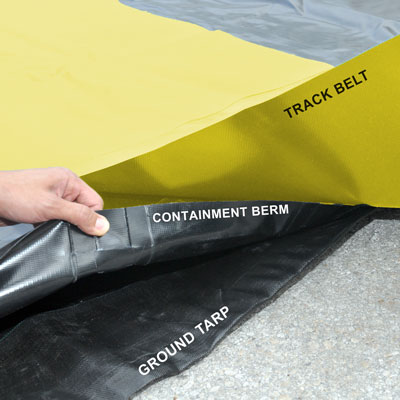 ground tarp and track belt