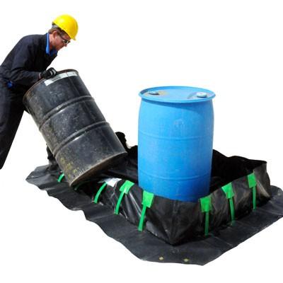 frac tank flexible wall containment berm