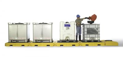 Tote Containment Pallet | Chemical & Oil Spill Pallet