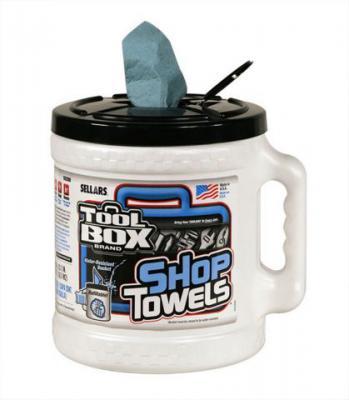 A55208T Blue Shop Towels Bucket (bucket of blue shop towels)