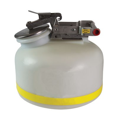 White Liquid Waste Disposal Can A12751J 2-Gallon Liquid Waste Container