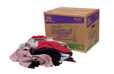 A99201T Colored Fleece Rags 25lb (25 lb fleece rags box colored)