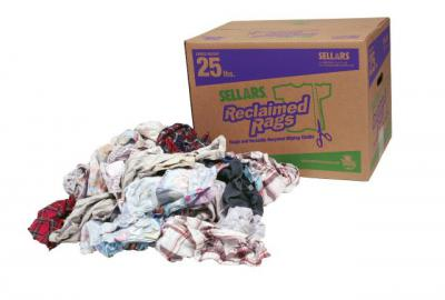 A99207T Flannel Rags 25 lb Box (recycled flannel rags)