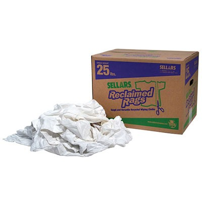 A99209T White Shop Rags 25lb Box (25 pound box of white shop rags)