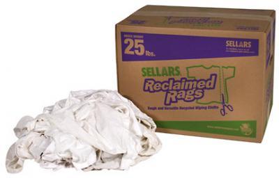 A99215T White Knit Rags 25 Lbs (knit rags polo rags 25 lb box)