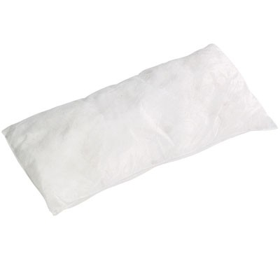 AWPIL818S white 8in x 18in oil only absorbent pillow