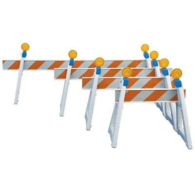 ballasting a-frame barricades & i-beam rails