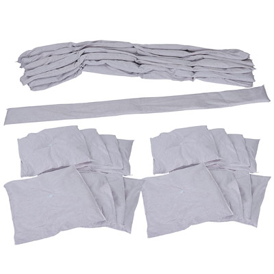 acid spill neutralizing absorbent socks and pillows