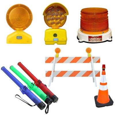 barricade lights and LED traffic safety lights
