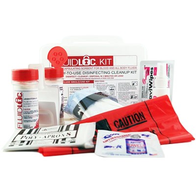 Body Fluid Cleanup Kit (A8626G) one easy storage kit