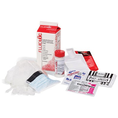 Body Fluid Cleanup Kit (A8520G one easy storage kit)