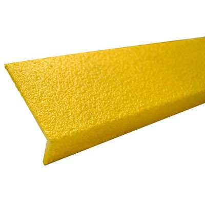 3in yellow fiberglass stair tread