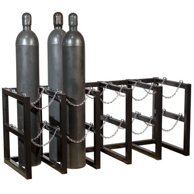 gas cylinder rack for safe tank storage a35172j