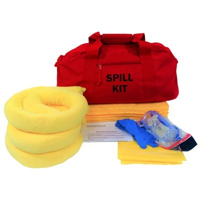 Duffel bag and hazmat spill response equipment