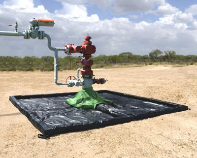 Oil Wellhead Berm (protects the soil around wellhead sites)