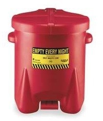 A933-FLE Oily Rag Container (6 gallon red oily rag safety container)