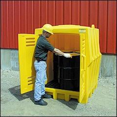 drum storage building