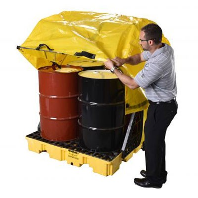 soft cover outdoor drum pallet