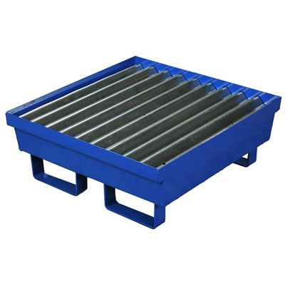 A1611STE One Drum Spill Pallets (Blue Baked On Powder Coat Finish)