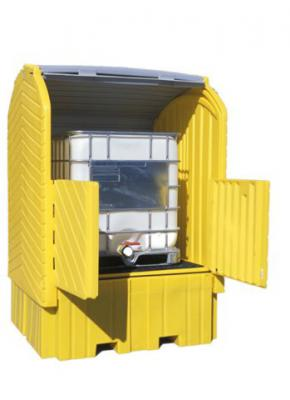 A1162U Outdoor Tote Spill Pallet (tote IBC locakable containment)