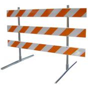 economy 10ft type III traffic barricade