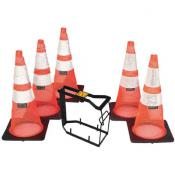 36in spring traffic cone and tote system